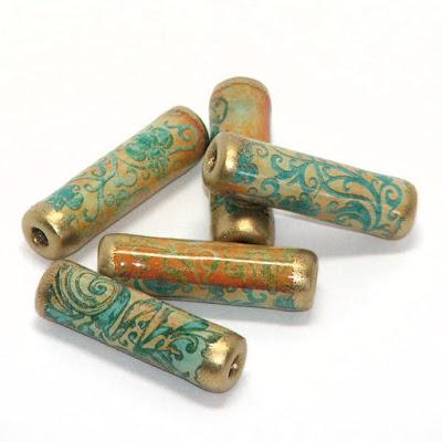 Gothic Swirls paper beads
