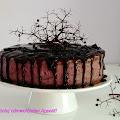 Tort z mąki gryczanej z kremem z czarnego bzu