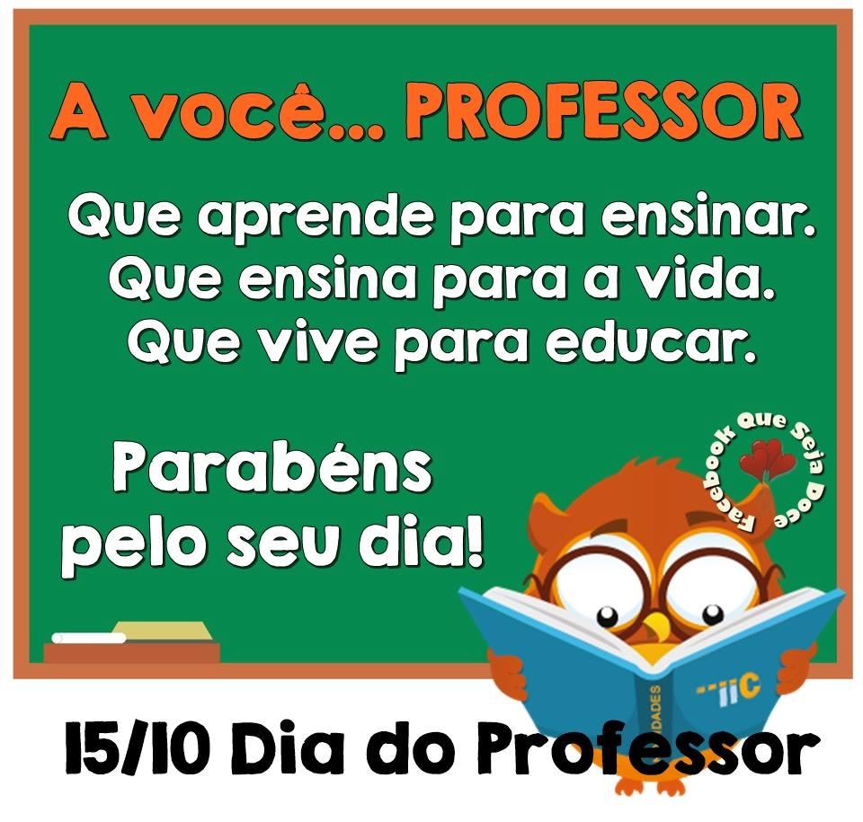 Well-known Blog da Jenny: Mensagem especial: Dia do Professor NG56