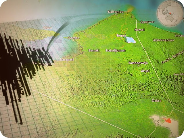Gempa Bumi 5,5 SR Guncang Kabupaten Waropen dan Nabire