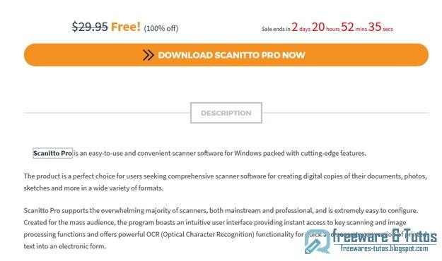 Offre promotionnelle : Scanitto Pro 3.17 gratuit !