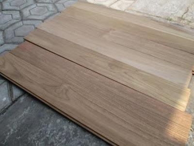 harga lantai kayu type flooring jati export Rp 530.000,-/m2
