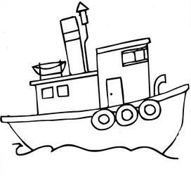 Dibujos infantiles dibujo infantil barco - Imagenes de barcos infantiles ...