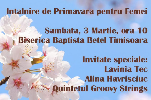 Întâlnire pentru Femei la Betel Timisoara - 3 martie