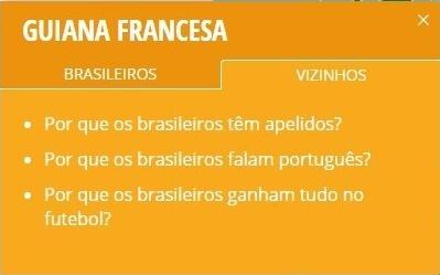 O Google responde o que nossos vizinhos sul-americanos acham do Brasil