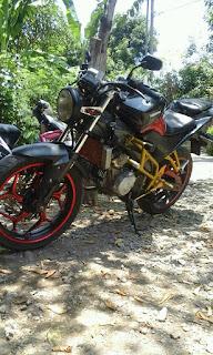 Modifikasi motor Yamaha Vixion
