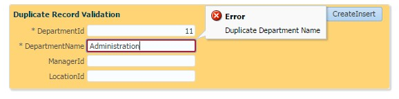 Duplicate Record Validation