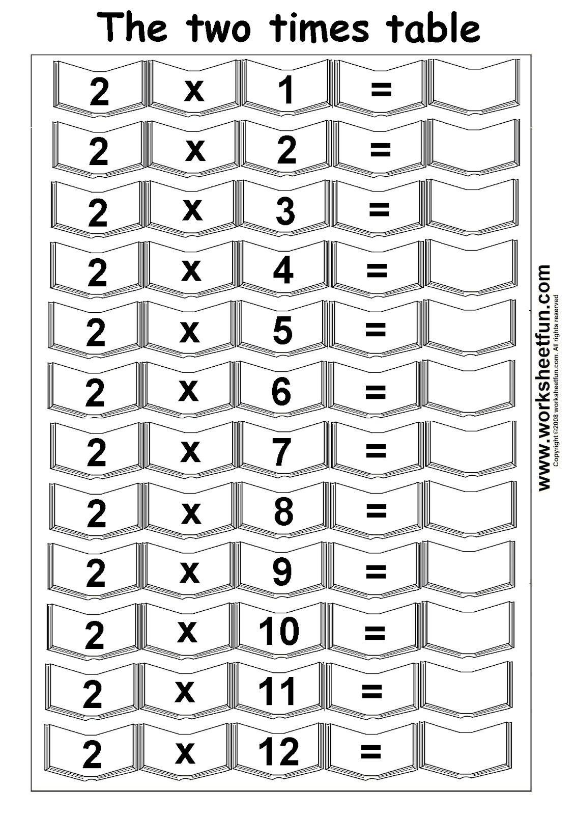 2 Times Table Worksheet Year 3 Energy 2 Times Table