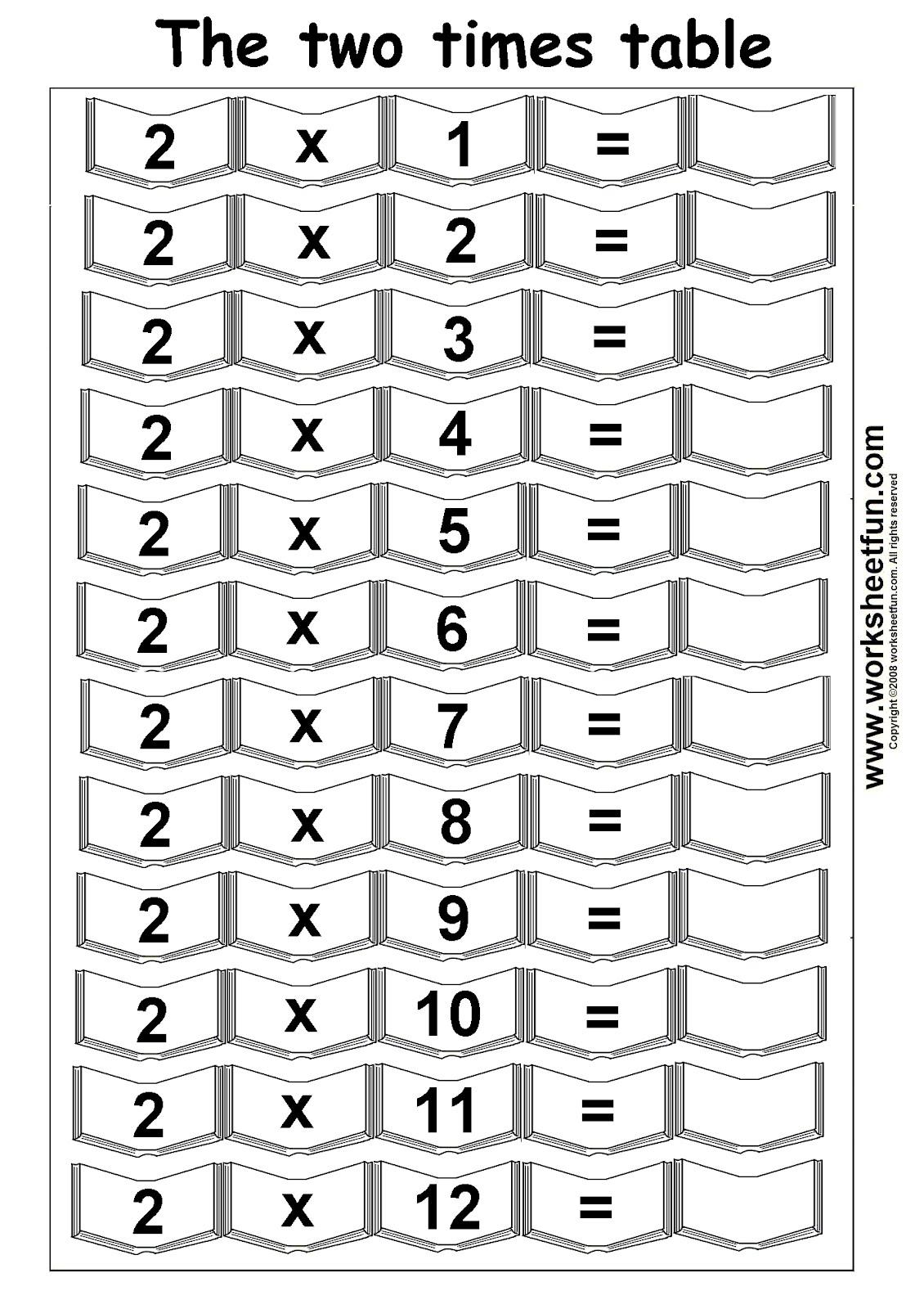 Arab Unity School Grade 1 D Blog Multiplication Worksheet