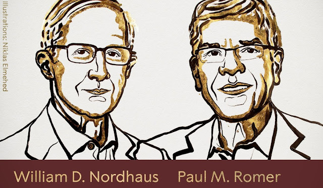 Nobel Prize 2018 In Economic Awarded to William D. Nordhaus and Paul M. Romer