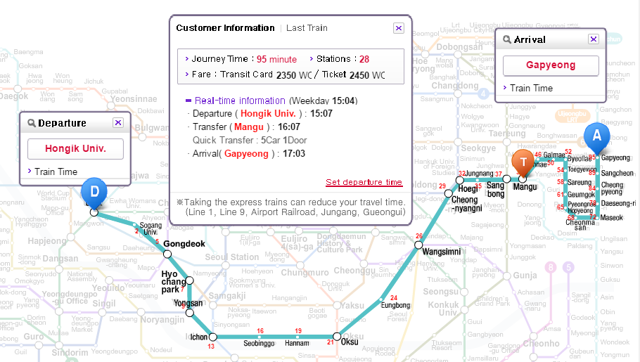 Seoul Station Subway Map.Train Or Bus From Hongdae To Nami Island And Petite France