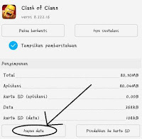 Cara Menghapus data Clash of Clans di Android atau Smartphones