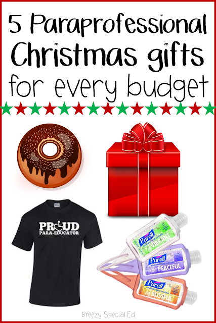 Christmas and holidays gift ideas for paraprofessionals and support staff in education
