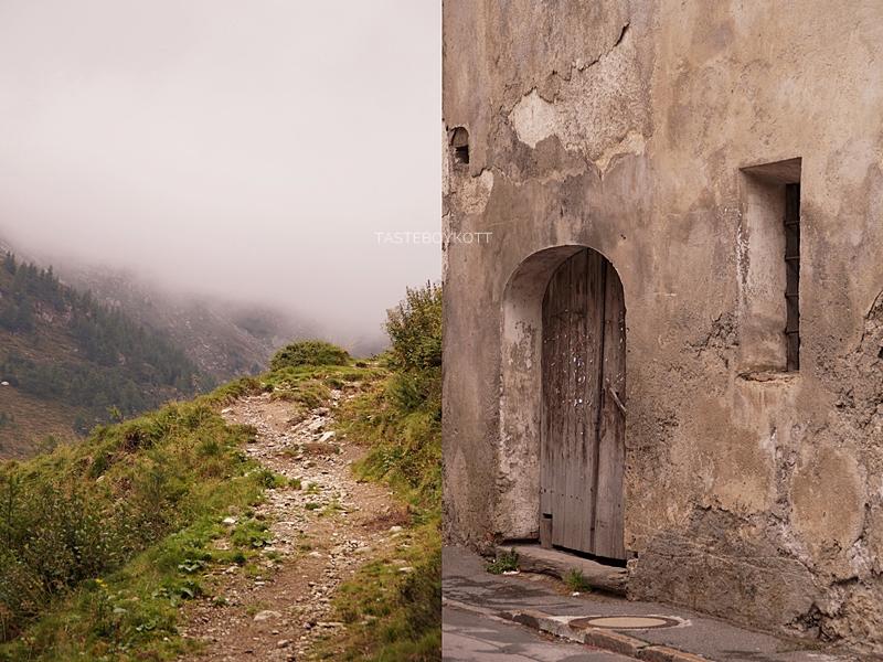 Urlaub im Lungau, Österreich, im Herbst: Wandern auf dem Speiereck bei Nebel, Mauterndorf