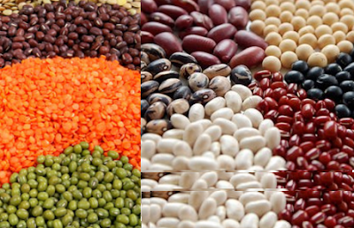Nuts and legumes rich food in carbohydrates