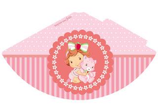 Gorros para imprimir gratis de Fiesta de Strawberry Shortcake Bebé.