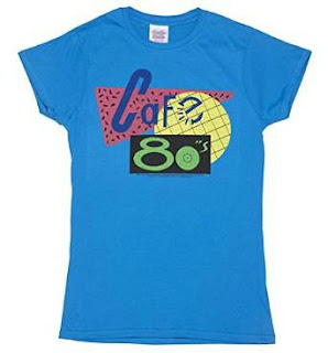 Deep Blue Cafe 80's T-shirt for Women