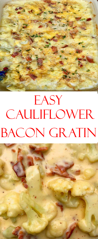 Cauliflower Bacon Gratin