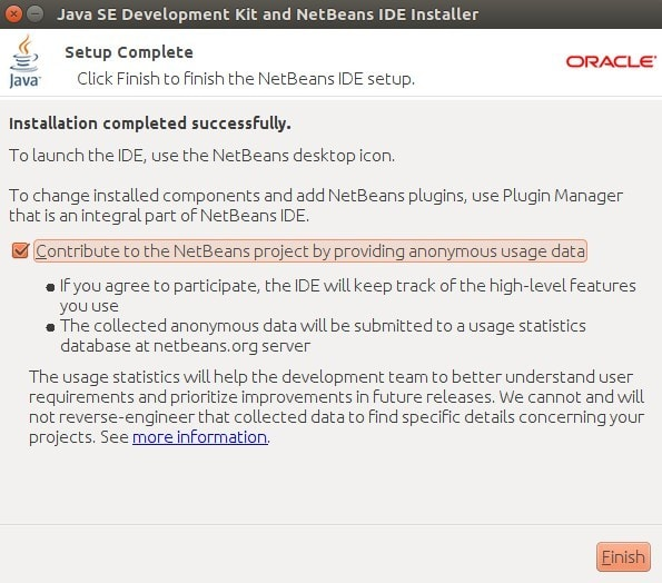 Prosses Installasi JDK dan Netbeans Selesai