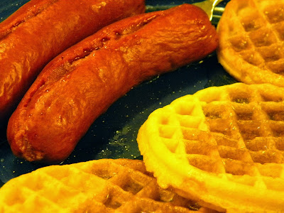 Knockwurst and Waffles