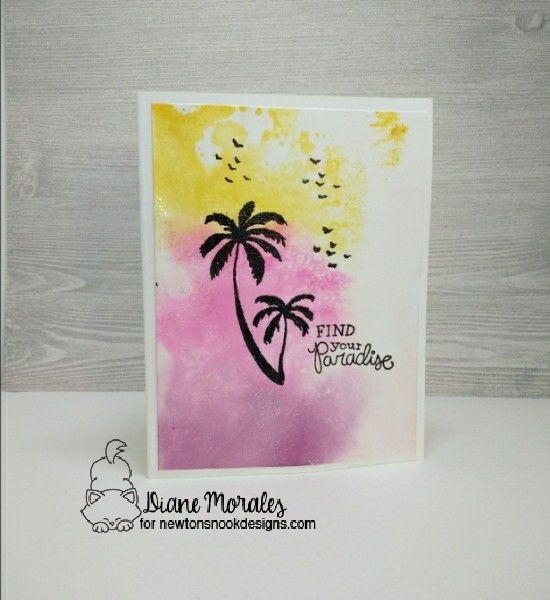 Find your paradise by Diane features Paradise Palms by Newton's Nook, #newtonsnook
