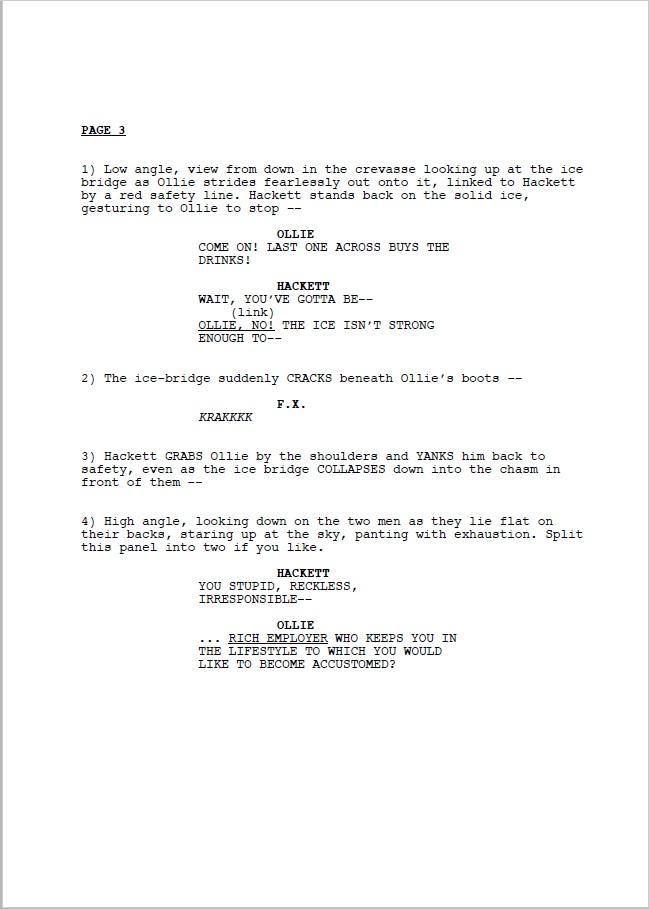 Comic Book Script