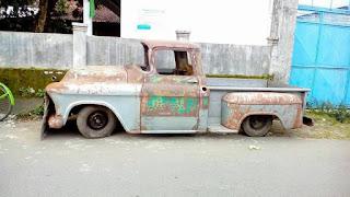 BAHAN TRUK KLASIK ISTIMEWA : 1956 Chevrolet Aphace ...Buruan Kolektor