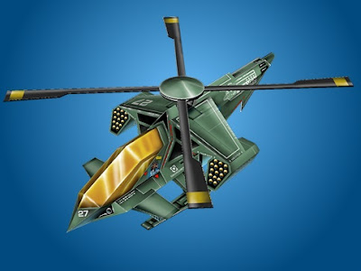 Futuristic Helicopter Paper Model