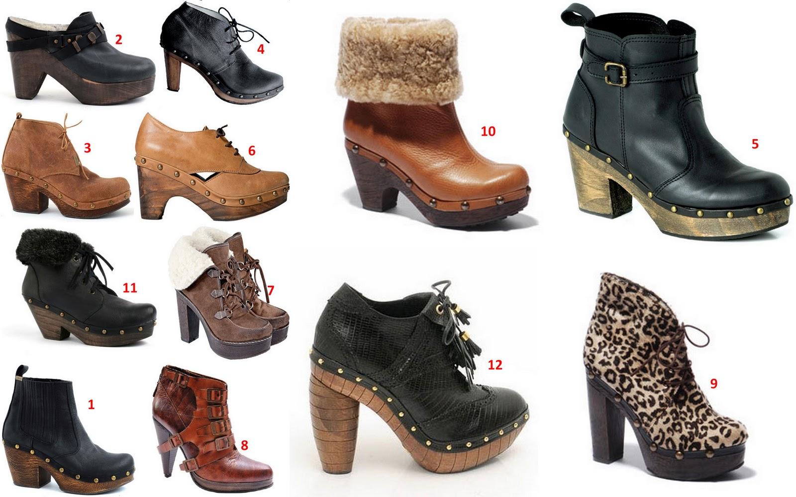 botinetas acordonadas con base de madera kosiuko bota corta con herraje  traza zuecos de cuero acordonados 0fab34413df