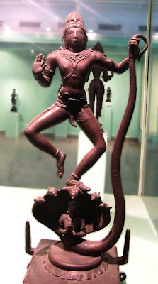Krishna dancing on the Kaliya serpent. Chola bronze. National Museum of India, New Delhi.
