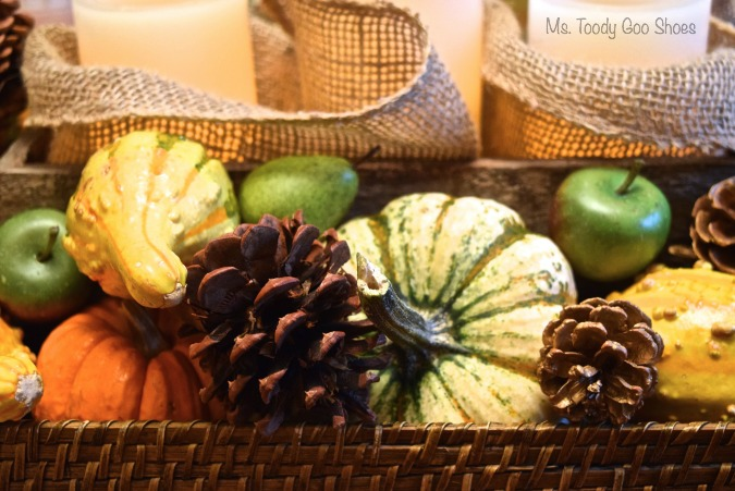Easy Thanksgiving Centerpiece - everything goes on a tray! - Ms. Toody Goo Shoes