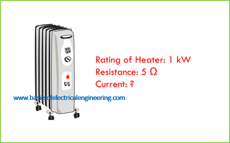 what-current-will-flow-though-a-1-kw-heater-which-has-5-Ω-resistance