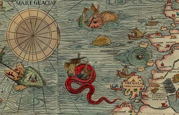 Akhirnya Terkuak Monster Laut Abad Pertengahan di Peta Kuno