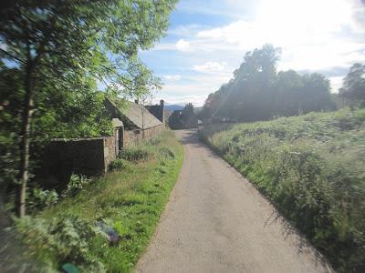 Farm houses on the walk around Loch Kinord