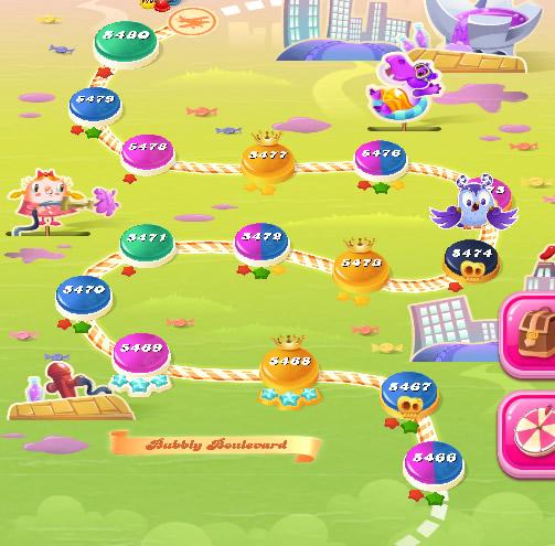 Candy Crush Saga level 5466-5480
