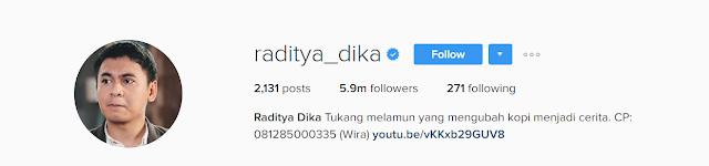Instagram raditya dika