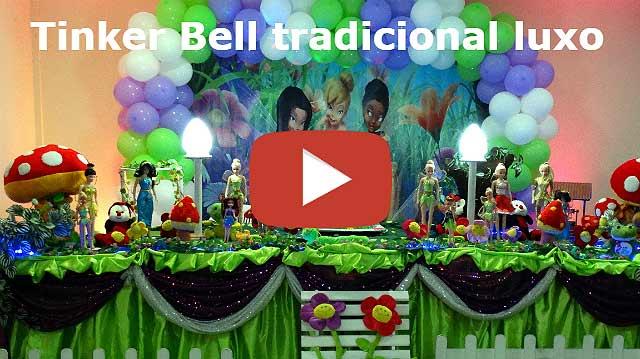 Decoração mesa luxo tema Tinker Bell