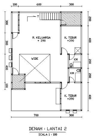 gambar denah rumah dengan coreldraw 2