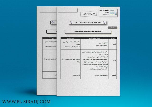 جذاذات مرشدي في اللغة العربية للسنة الثالثة ابتدائي