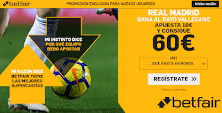 betfair supercuota Real Madrid gana Rayo 28 abril 2019