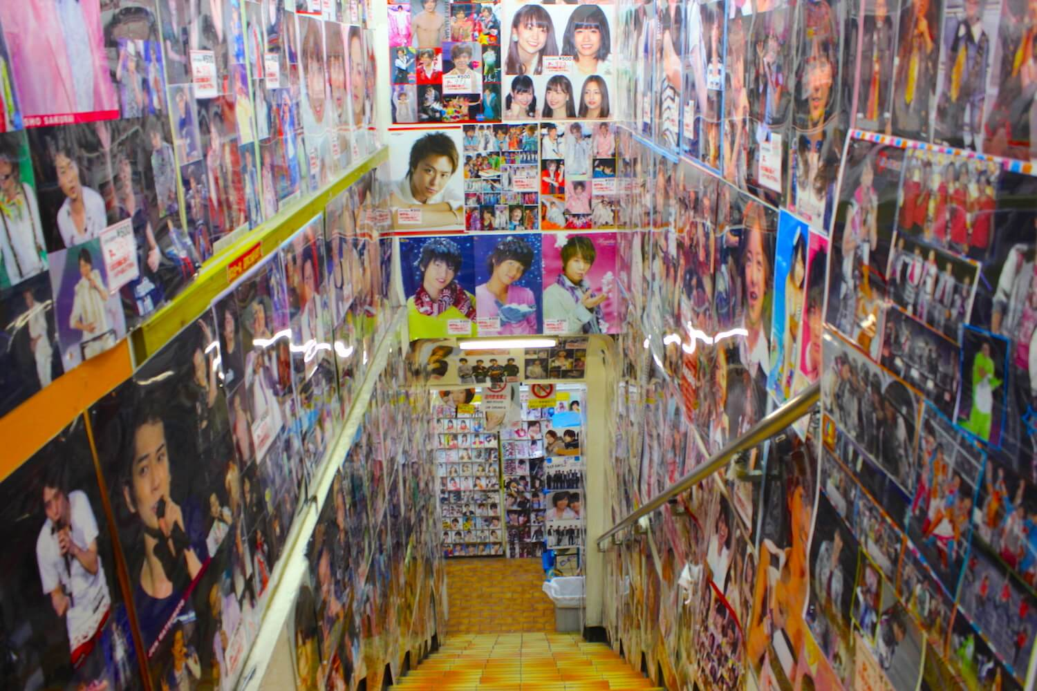 harajuku host shop with many posters