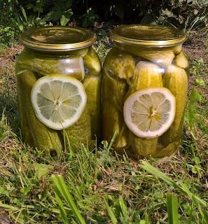 огурцы с лимонной кислотой