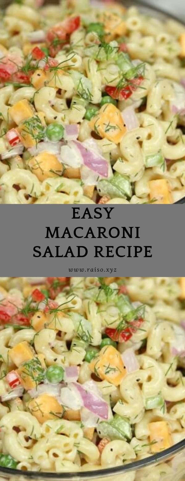 Easy Macaroni Salad Recipe #salad #sidedish