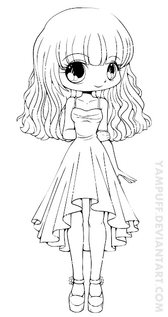 Chibi Lineart Mission Chibi Anime Girl Coloring Pages