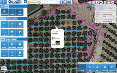 GeoWE geolocalización de averías en sistemas de riego