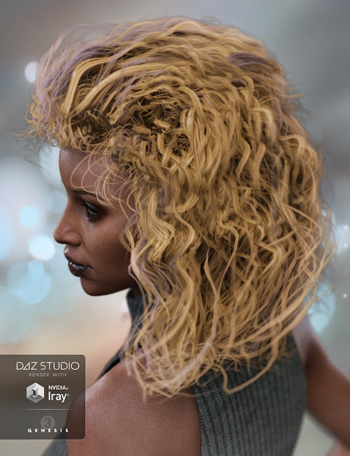 Heart Breaker Hair for Genesis 3 Female