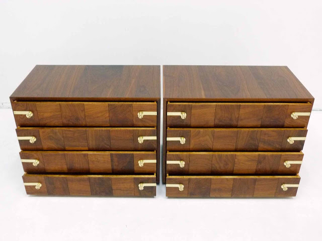 Renzo Rutili for Johnson Furniture Hollywood Regency Dresser Chests 5