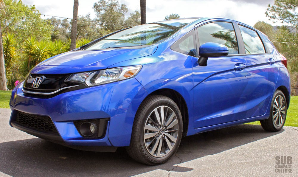 Blue 2015 Honda Fit