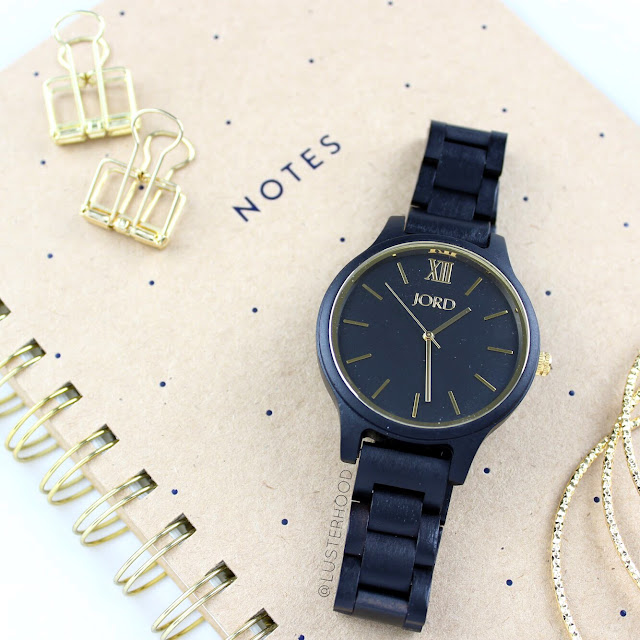 Jord Watch Giveaway Frankie Ebony Gold  |  Lusterhood