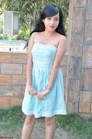 Sahana New cute Telugu Actress in Sky Blue Small Sleeveless Dress ~  Exclusive Galleries 044.jpg